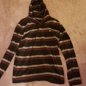 M Van's light hooded sweatshirt